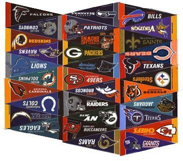 NFL Football Mini Pennants Collector Set (32)