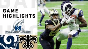 Rams vs. Saints NFC Championship Highlights | NFL...