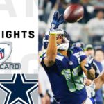 Seahawks vs. Cowboys Wild Card Round Highlights |...