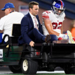 New York Giants' Scott Simonson has high-ankle...