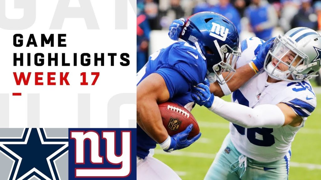 Cowboys vs. Giants Week 17 Highlights | NFL 2018