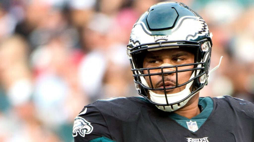Philadelphia Eagles' Brandon Brooks is winning his...