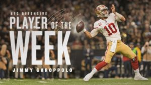 Jimmy Garoppolo Named NFC Offensive Player of the...