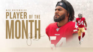 Fred Warner Named NFC Defensive Player of the...