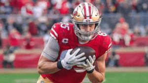 George Kittle Held Out of Practice ahead of Title...
