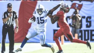 Indianapolis Colts wide receiver Parris Campbell...