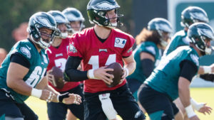 Carson Wentz has gone almost a year without pizza