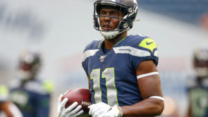 Russell Wilson sees potential in rookie receiver...