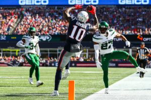Josh Gordon stepped up for the Patriots offense in...