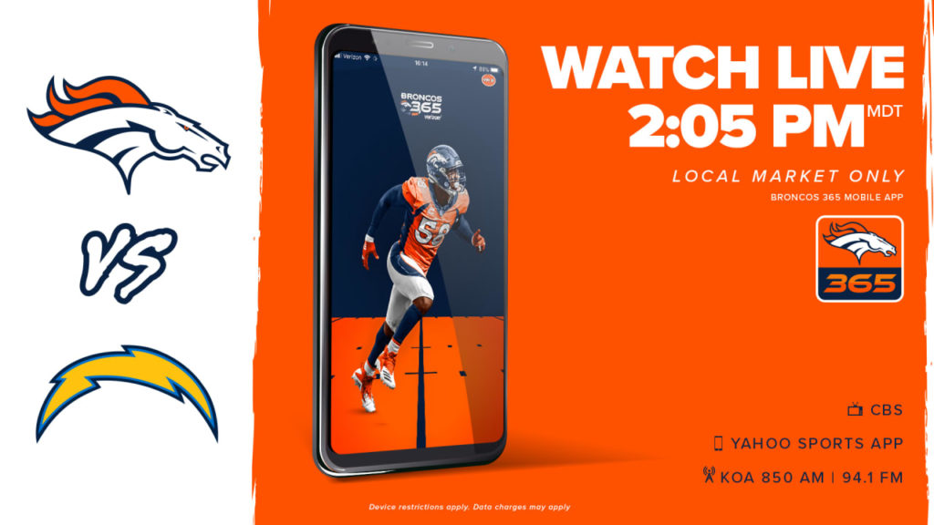 How to watch Broncos at Chargers