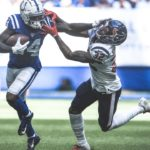 Indianapolis Colts tight end Eric Ebron and wide...