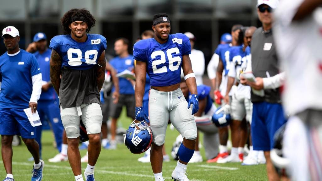 Saquon Barkley, Evan Engram practice in full