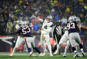 What went wrong against the Patriots on Sunday?