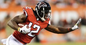 Mohamed Sanu has a cannon for an arm