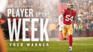 Fred Warner Named NFC Defensive Player of the Week