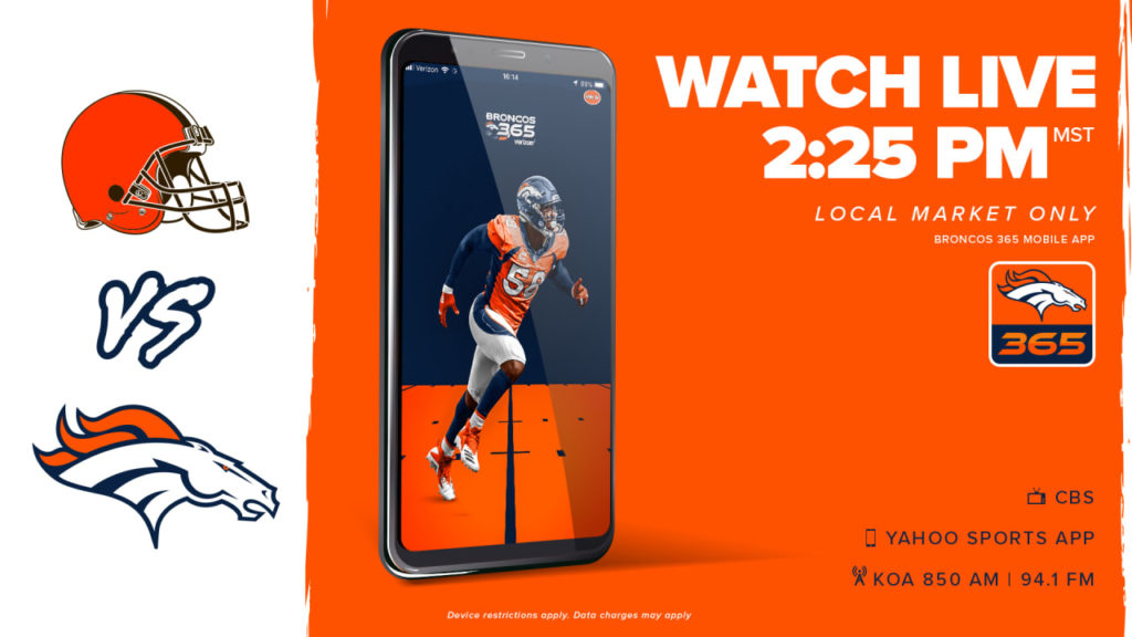 How to watch Broncos vs. Browns