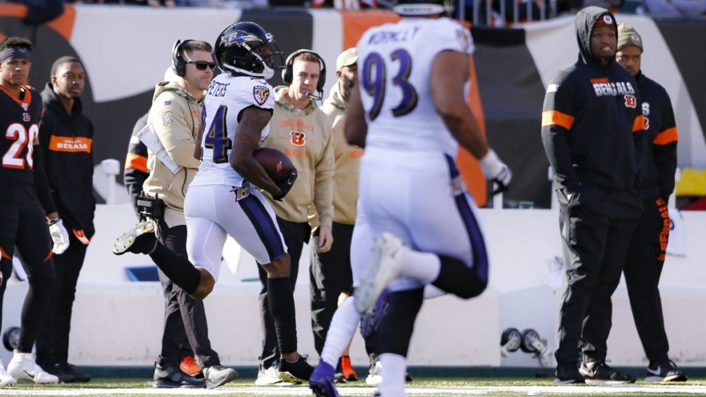 Ravens defense has scored five times in three...